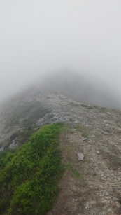 11.1 Whiteside ridge in mist
