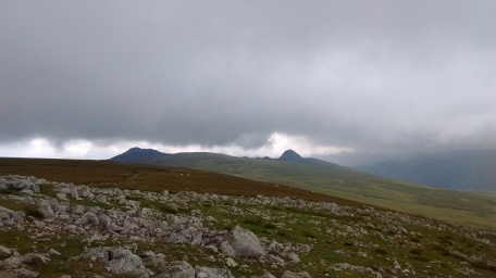 16.7 Langdale Pikes under heavy sky